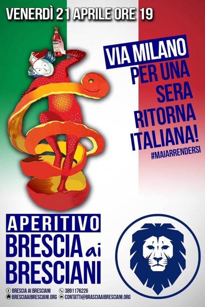 Venerdì 21 Aprile: Via Milano per una sera torna italiana
